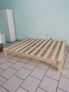 Base De Madera Cama King Size Desarmable