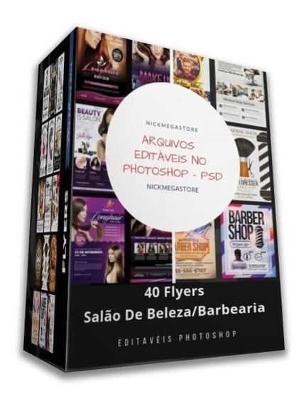 40 Flyers Salão De Beleza E Barbearia - Psd Editável