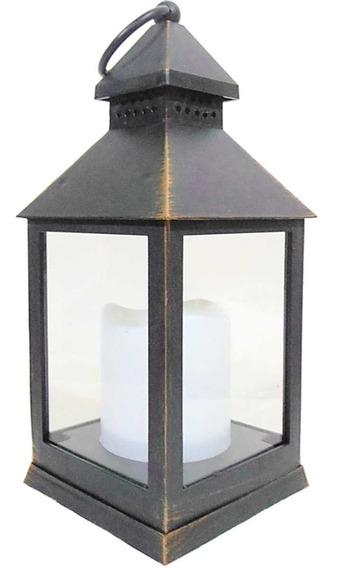 Lanterna Marroquina Luminaria Decorativa Porta Vela Led Sj