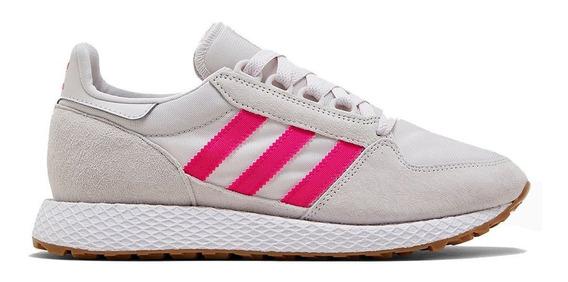 Zapatillas adidas Forest Grove W Gris/rosa - Corner Deportes