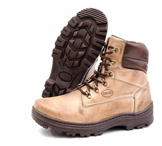 Coturno Bota Trilha Adventure Couro Stevan Boots