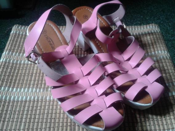 Zapatos / Sandalias Tipo Plataforma /(baja) Marca Dionne