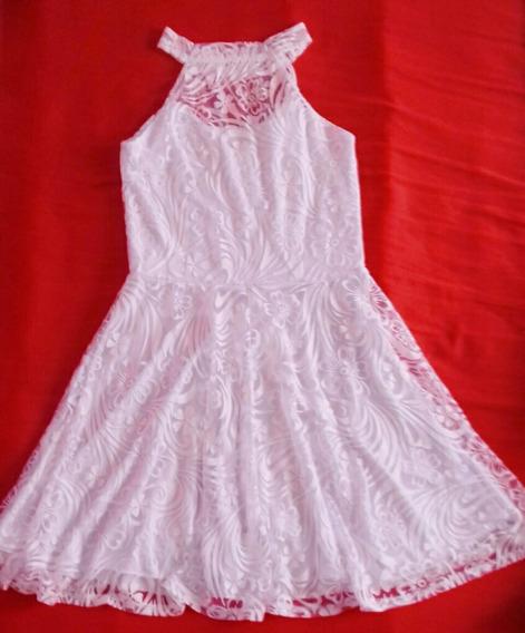 Vestido Branco Com Renda M