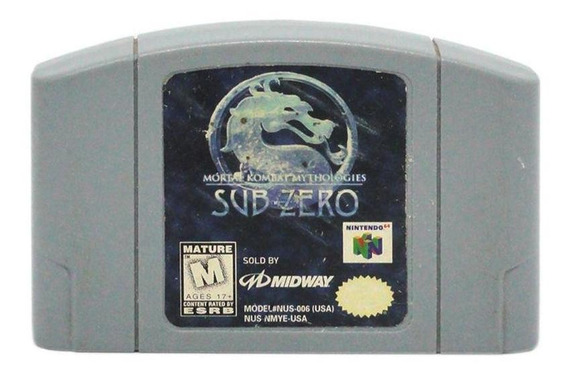 Mortal Kombat Mythologies Subzero N64 Mídia Física