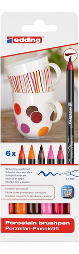 Set Marcador Para Cerámica Colores Cálidos Edding 4200 X 6 U