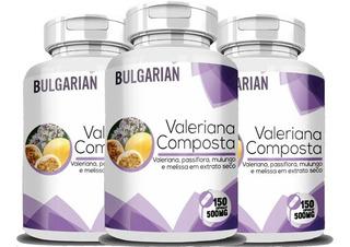 Valeriana Composta 3potes 450cap Suplemento Natural