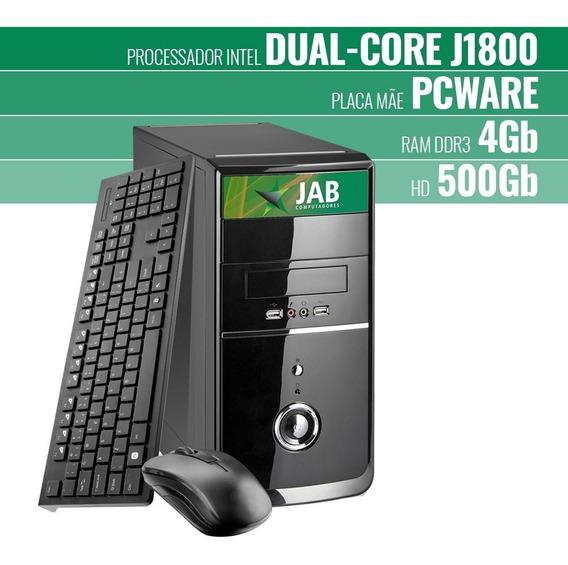 Computador Jab Celeron J1800, 4gb Ddr3, Ssd 120gb Linux