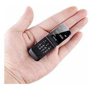 Longcz J9 Mini Flip Telefono Movil 066 Pulgadas Pantalla Blu