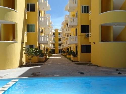 Departamento En Renta En La Playa En Chixchulub, Yucatan Con Alberca 3 Habits Amueblado