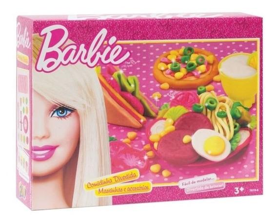 Massinha Para Modelar Barbie Comidinha Divertida