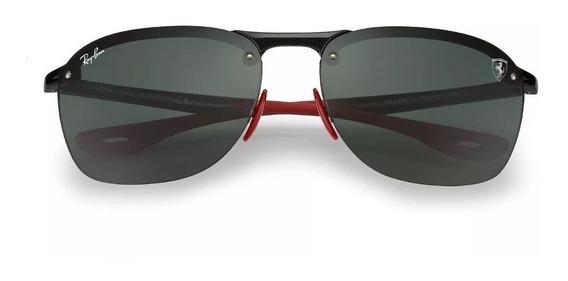 Óculos Ray Ban Ferrari 4302m Scuderia Masculino Kit Ferrari