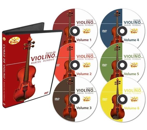 Coleção Curso De Violino Em 6 Dvds- Edon-original