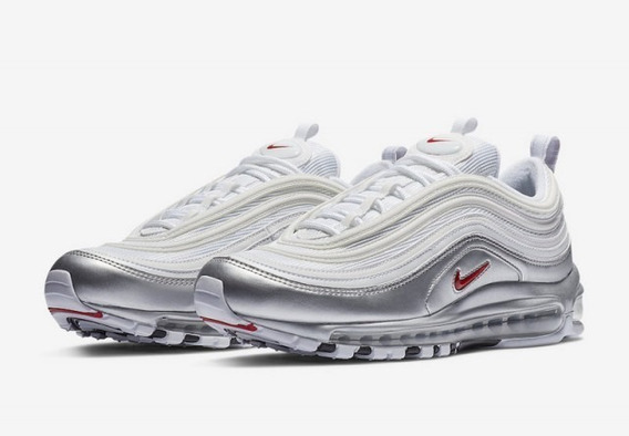 Nike Air Max 97 White/varsity Red-metallic Silver-black 60$
