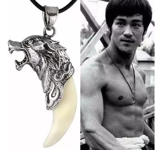 Colar Cordão Bruce Lee De Lobo Corrente Frete Grátis