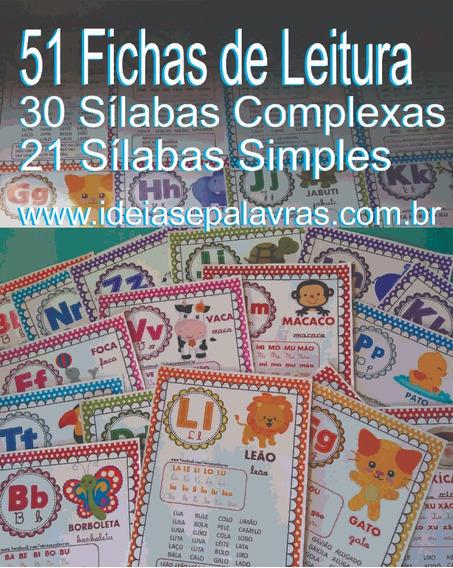 Impresso51 Fichas De Leitura A4 | Atividades Alfabetização