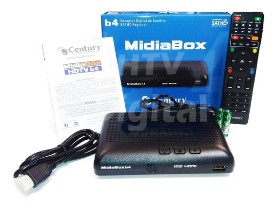 Kit 4 Receptores Midiabox B4 Century Hd Digital Midia Box Az