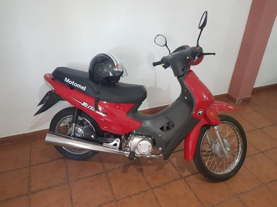 Motomel Blitz 110 2017 Con Casco Muy Poco Uso.