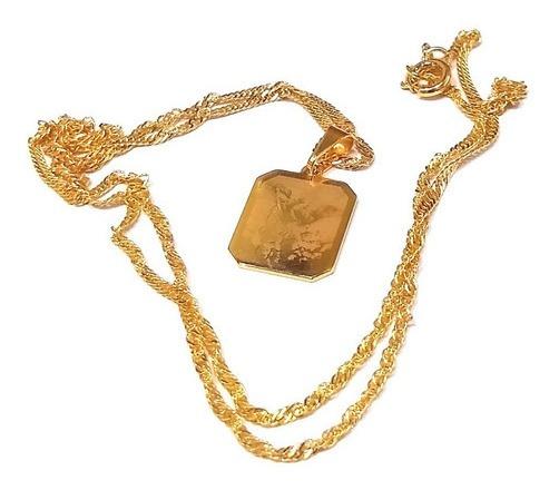 Linda Medalha De São Miguel Protetor 1,8cm Folheado A Ouro