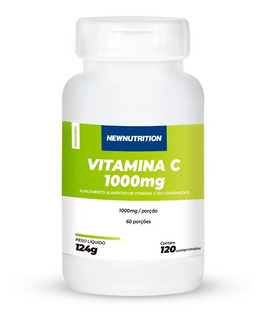 Vitamina C 1000mg 120 Capsulas Newnutrition