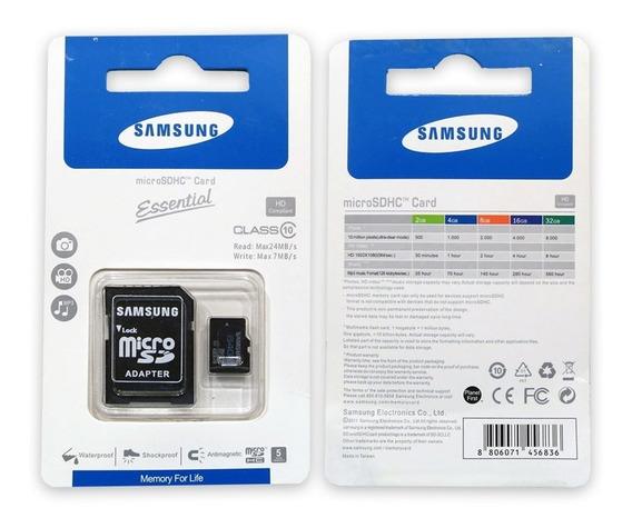 Cartão De Memória Samsung - Micro Sdhc - Classe 10 - 32 Gb