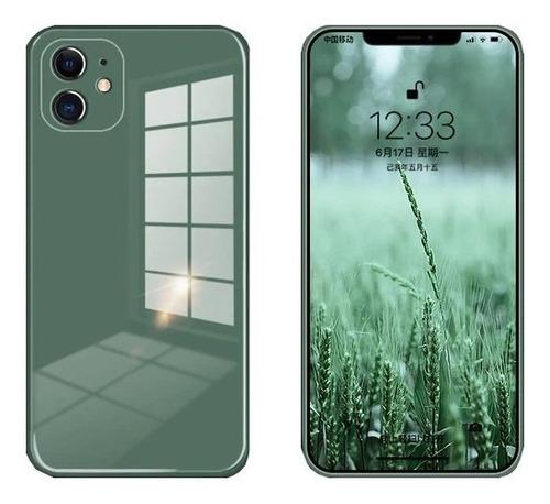 Imagen 1 de 2 de Carcasa Crystal Green iPhone 11 Con Logo