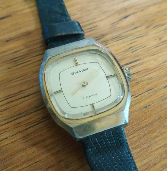 Relógio Sharp 17 Jewels - Feminino - À Corda, Antigo