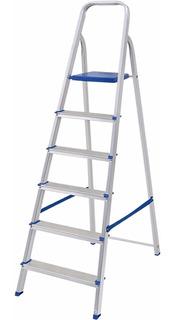 Escalera Aluminio 6 Escalones Mor Plegable Jardin Hogar