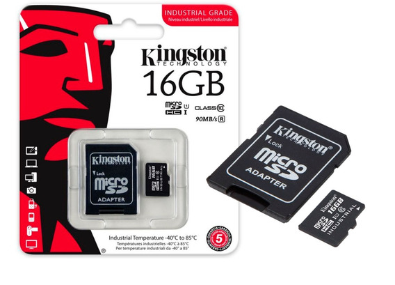 Cartão De Memoria Micro Sd Industrial 16gb Kingston Class 10