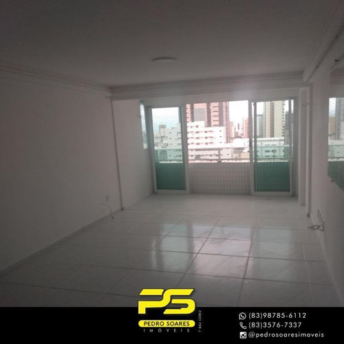 Imagem 1 de 10 de (oportunidade)  Flat Com 1 Dormitório À Venda, 40 M² Por R$ 200.000 - Tambaú - João Pessoa/pb - Fl0156
