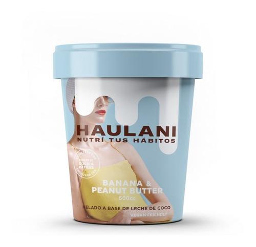 Helado Haulani Banana & Mantequilla De Maní X 500cc