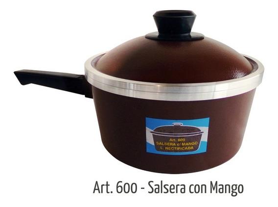 Salsera Bifera Con Mango Art. 600