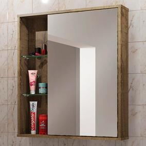 Armário De Banheiro Áereo 1 Porta Com Espelho Miami 207518