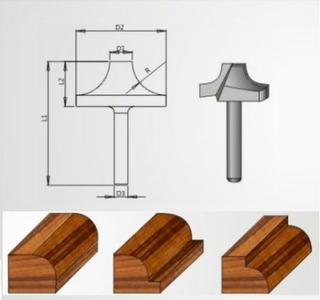 Fresa Para Decoração 15x10mm Radix - 19r10.0.01