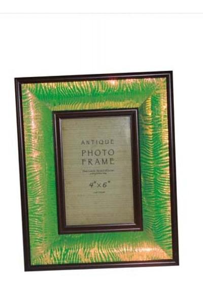 Porta Retrato Verde Brilho 10x15 Goodsbr 26x21x4cm