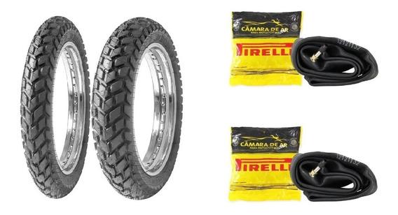 Par Pneu Honda Bros 125 150 160 Robust + Camaras Ar Pirelli