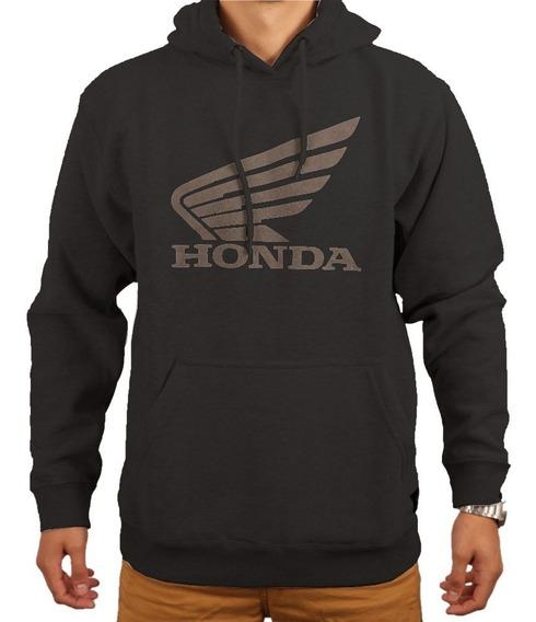 Buzo Alpinestars Honda Wing Fleece Algodon Negro Yuhmak
