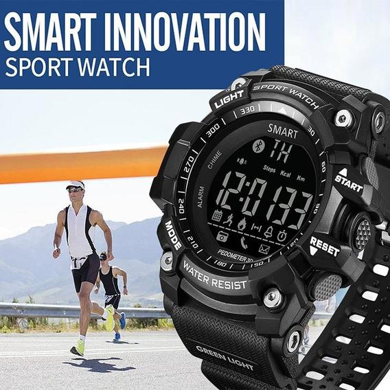 Relógio Esportivo Militar Multifunções Smartwatch Preto
