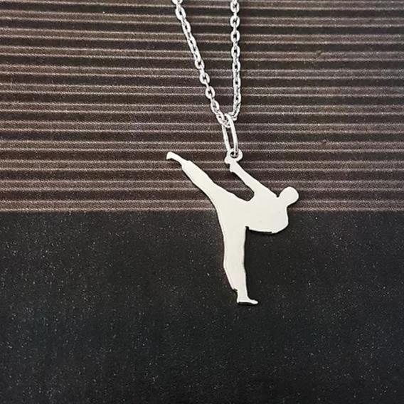 Colar De Prata 950, Artes Marciais Linha Fitness