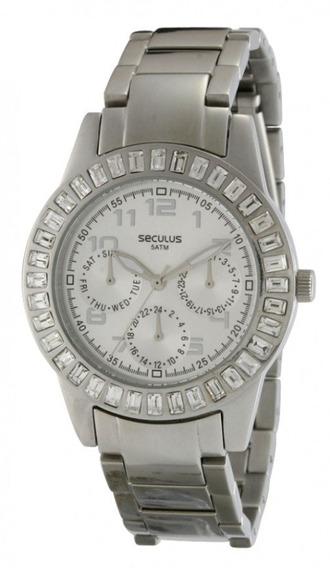 Relógio Seculus Analógico Feminino Prateado 24638l0ssna