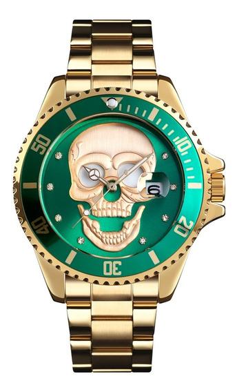 Skmei 9195 Aço Inoxidável Relógio Masculino Resistente À Águ