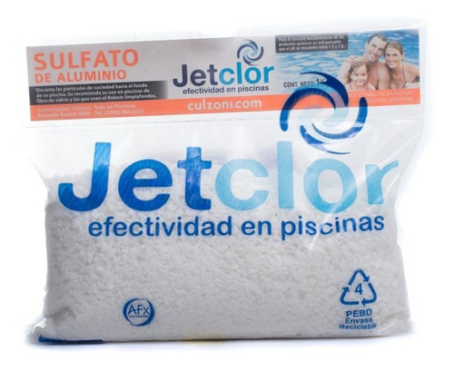 Sulfato De Aluminio Jetclor Por 1 Kilo