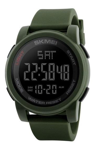 Relógio Skmei 1257 Masculino Garantia Verde Cronometro Nf