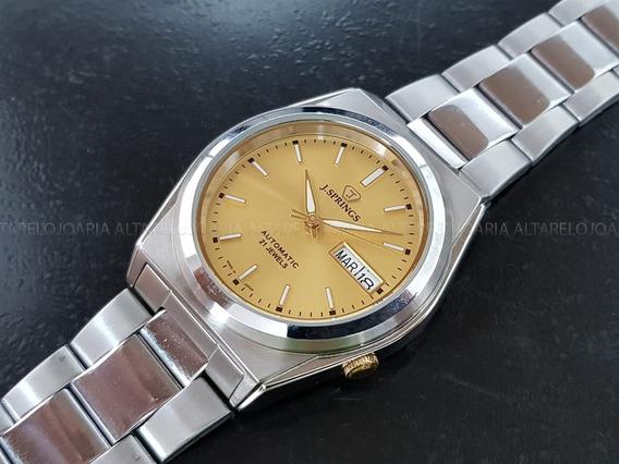 Relógio J.springs By Seiko Automático Beb504s 21 Rubis
