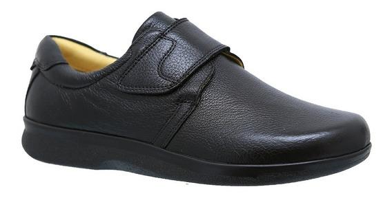 Sapato Masculino Esporão 3052 Em Couro Floater Preto Doctor