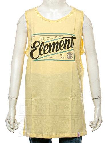 Musculosa Element Single Lager Hombre Amarillo