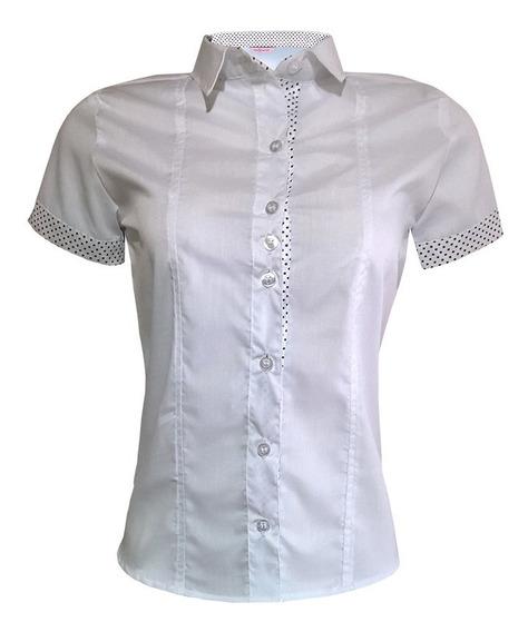 Camisa Camiseta Feminina Social Branca