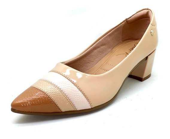 Sapatos Femininos Scarpin Confort Salto Quadrado Dani K