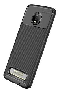 Capa Case Anti Impacto Carbon Moto Z4 / Z4 Play