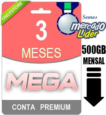 Conta Premium Mega 90 Dias - Direto Do Site! Oficial