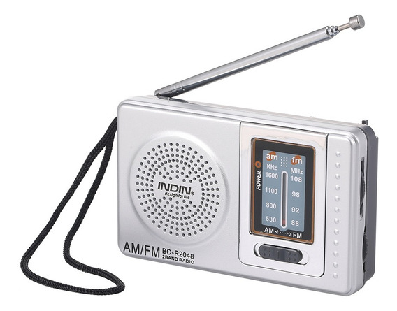Indin Bc-r2048 Mini Am Fm Rádio 2 Banda Receptor De Rádio